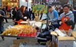 A Potato Food Stall Moment in Myeongdong, Seoul