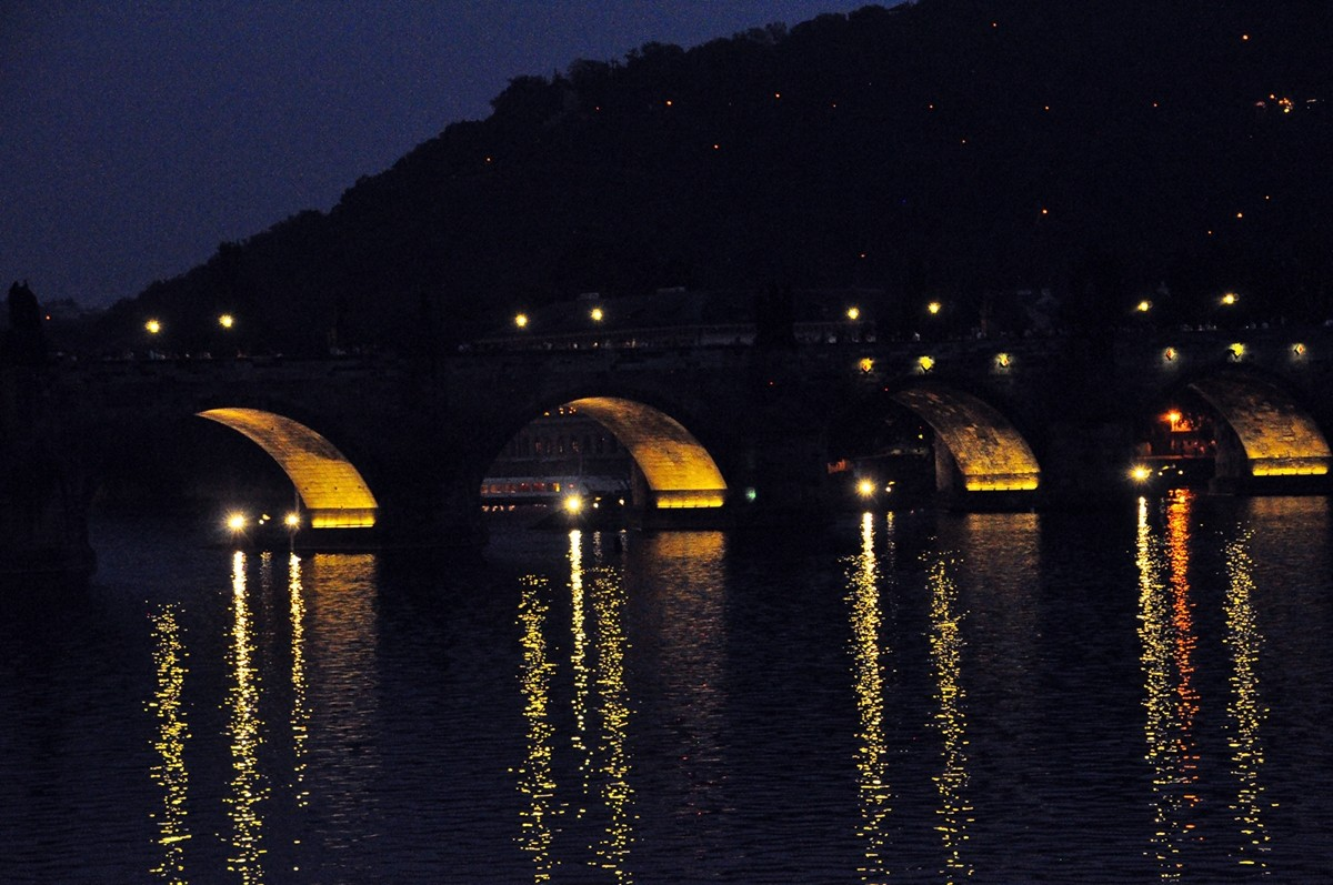 Charles Bridge from the Vitava Riverbank