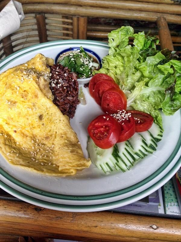 Thai Omelette with Karen Paste, Farm Story,Chiang Mai, Thailand
