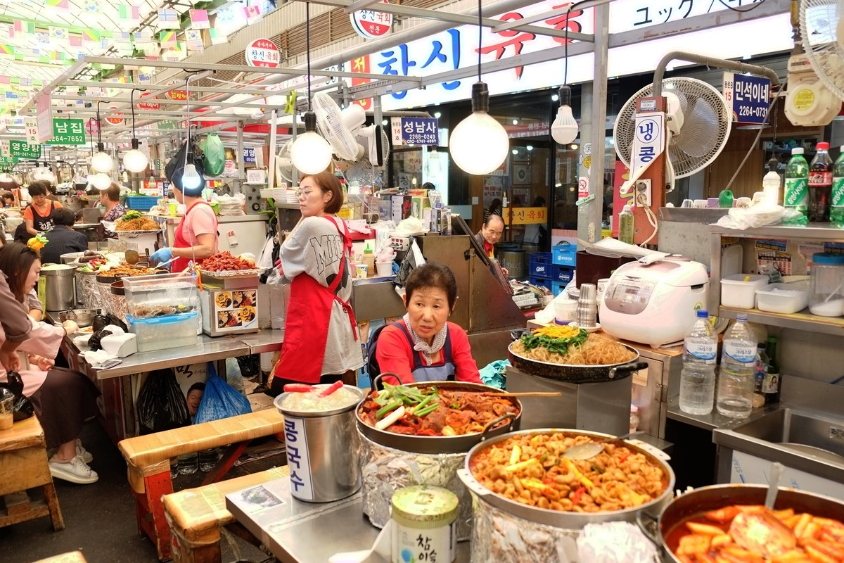 Korean Traditional Food at Gwangjang Market